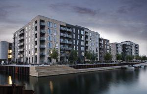 Mere end 90% af de opførte lejligheder på Frederiks Brygge er nu udlejet